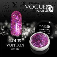 Гель лак Vogue nails с глиттером Louis Vuitton, 5ml