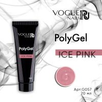PolyGel Vogue Nails Ice Pink, 20 мл